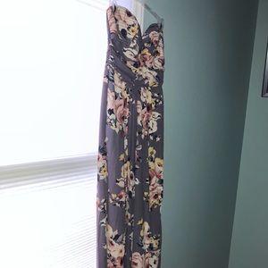Xhilaration printed strapless jumpsuit